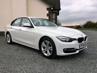 2014 December BMW 316D Sport 2 litre diesel. Auto/triptronic. white black sports trim 25000 miles