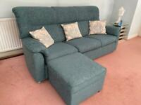 URGENT REDUCED 4 Piece Parker Knoll Sofas in Blue - Good Condition