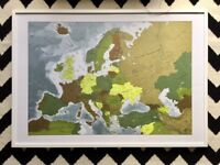 Map of Europe - Framed - Future Mapping Company