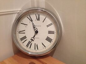 Shabby Chic-Style Chrome Wall Clock