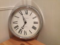 Shabby Chic-Style Chrome Wall Clock