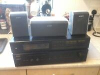 Amp and radio seperates and 3 speakers