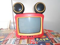 "RARE DISNEY MICKEY MOUSE 14"" TV - NEED GONE"