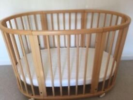 Stokke Mini Crib & Sleepi Bed extension complete with mattresses
