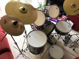 Yamaha Drum Kit - Red Wine