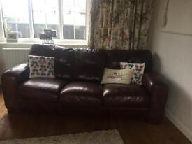 3 seater leather sofa barker & stonehouse
