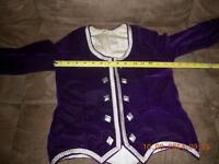 GIRLS PURPLE HIGHLAND DANCE JACKET