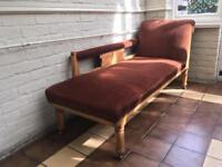 Beautiful Wooden Carved Vintage Chaise Lounge