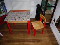 Unique children desk and chair set (RENEWED).