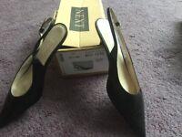 Next Black slingback low heeled shoes, size 40/6,1/2