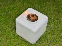 Limestone gel burner