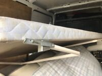 Free fold away single bed and mattress