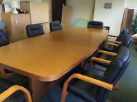 Executive Board Room Table and 8 Chairs - Excellent quality (Della Rovere), excellent condition