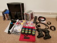 Sony Playstation 3 80Gb Mega Bundle (Console, Singstar, Buzz, Games and Blu Ray movies)