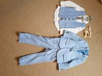 Next pale blue 3 piece suit