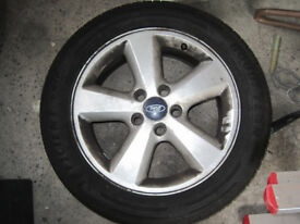 GENUINE Ford Focus MK II MK2 USED 16 inch Alloy Wheel, NEW GOOD YEAR tyre - 2004-2011 205/55 R16