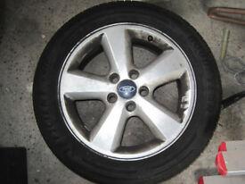 GENUINE Ford Focus MK II MK2 USED 16 inch Alloy Wheel, NEW GOOD YEAR tyre - 2004-2011 205/55 R16