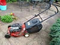 """Sovereign petrol rotary lawnmower 44cm / 17"""" in running order - yours for a charity donation"""