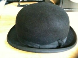 VINTAGE HARRODS ; THE WELBECK BOWLER HAT/ SIZE 7 1/8 (56 cm)