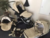 3in1 Baby Pram in good condition with free baby carrier SMOKE AND PET FREE HOME