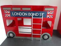 London Bond St Red Bus Children's Bunkbed