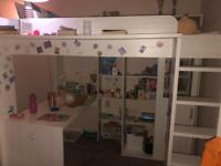 Loft bed/ High sleeper by Parisot with desk / shelves and wardrobe