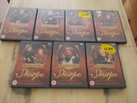 Seven DVD'S Sharpe based on novels by Bernard Cornwall