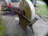 Sandstone grinding wheel.
