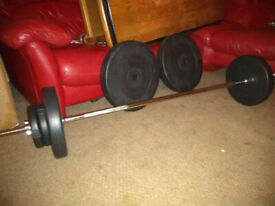 Barbell bar and weights