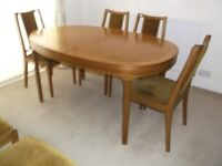 Nathan Dining Table and 6 Chairs Extendable Oval Teak Furniture