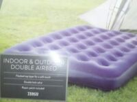 Double Airbed indoor / outdoor use with pump