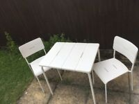 Ikea VÄDDÖ Table+2 chairs, outdoor, garden PERFECT condition