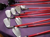 Golf clubs Letters T8 - Graphite shafts - Very good condition - FREE bag of balls & tees.