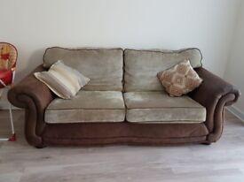 2 comfortable sofas with plenty of room.