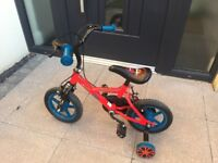 Kids bike, suitable for up to 4 years