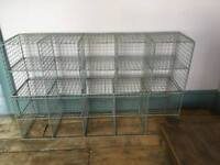 Vintage pigeon holes shelving unit