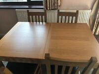 Nearly brand new table and chairs