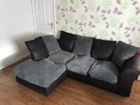 3 seater Left Handed Fabric Corner Sofa