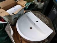 Brand new wash basin and semi-pedestal
