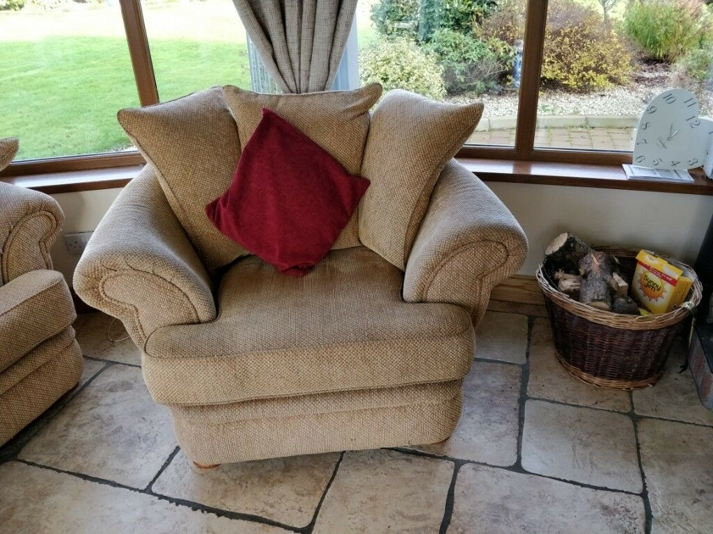 Large Comfy Two seater Sofa & 2 Armchairs | in Ballymena ...