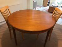 G plan extending dining table (plus 2 free Chairs)