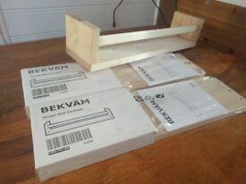 Spice rack / Shelf Bekvåm IKEA X 3 ,,£2.5 each or all for £6