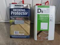 5L Tin Ronseal Decking Oil/Protector + Part tin Diall Decking Oil