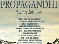 Propagandhi ticket! For Bristol 22/04/18