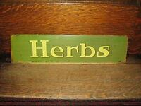 HERB SIGN