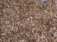 bags wood chippings