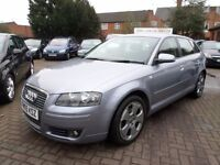 Audi A3 2.0 FSI Sport Sportback 5dr 2005 (05 REG), SILVER, ONLY 83000 MILES WITH SERVICE HISTORY