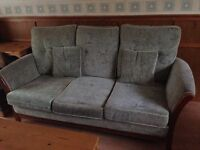3 Seat Sofa - Wooden framed, may be Gplan