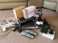 Sky HD+Box, Multi-Room Box, WiFi Routers, Remotes.