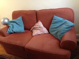 Orange Two-Seater Sofa